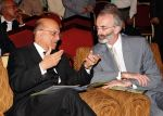 Justice Nasir Aslam Zahid with a foreign diplomat