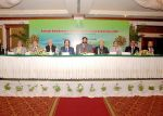 The Head-table with the Chief Guest, Dr. Sagheer Ahmed, Minister for Health, Government of Sindh