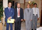 The Ombudsman Sindh and ACS along with other officers awaiting arrival of guests